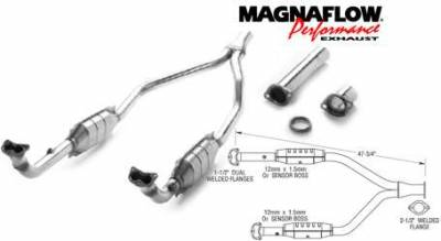 MagnaFlow - MagnaFlow Direct Fit Y-Pipe Catalytic Converter - 23821