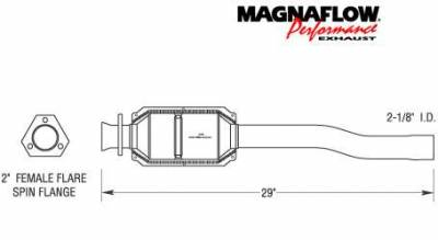 MagnaFlow - MagnaFlow Direct Fit Rear Catalytic Converter - 23826