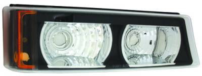 In Pro Carwear - Chevrolet Silverado IPCW Park Signals - Front - Diamond Cut with Amber Reflector - 1 Pair - CWB-337B