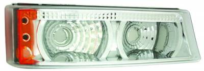 In Pro Carwear - Chevrolet Silverado IPCW Park Signals - Front - Diamond Cut with Amber Reflector - 1 Pair - CWB-337C
