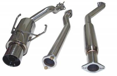 Megan Racing - Honda Civic Megan Racing Drift Spec Style Cat-Back Exhaust System - MR-CBS-HC02SIN-N