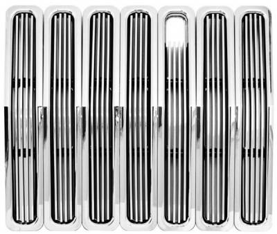 In Pro Carwear - Jeep Wrangler IPCW Billet Grille - Cut-Out - 7PC - CWBG-85TJ