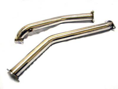 Megan Racing - Mazda RX-7 Megan Racing Exhaust Downpipe - T304 Stainless Steel - MR-SSDP-MRX9395