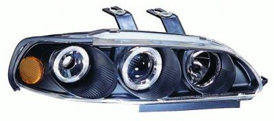 In Pro Carwear - Honda Civic 2DR In Pro Carwear Projector Headlights - CWS-719BL2