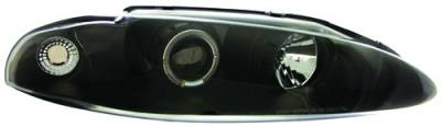 In Pro Carwear - Mitsubishi Eclipse IPCW Headlights - Projector with Rings - 1 Pair - CWS-903B2