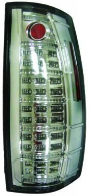 In Pro Carwear - GMC Yukon IPCW Taillights - Fiber Optic & LED with LED Reverse Light - 1 Pair - LEDT-612C