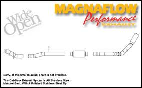 MagnaFlow - Magnaflow Performance Series 4 Inch Exhaust System - 16944