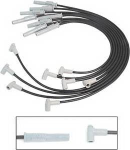 MSD - Chevrolet MSD Ignition Wire Set - Black Super Conductor - 31803