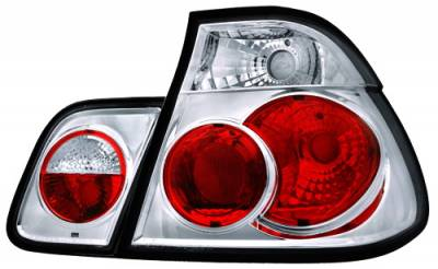 In Pro Carwear - BMW 3 Series 4DR IPCW Taillights - Crystal Eyes - Crystal Clear - 1 Pair - CWT-205C2