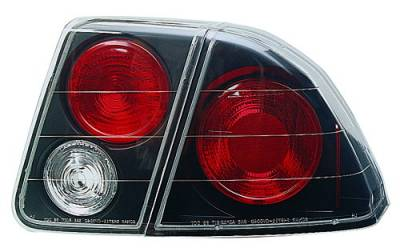 In Pro Carwear - Honda Civic 4DR IPCW Taillights - Crystal Eyes - 4PC - CWT-735B2