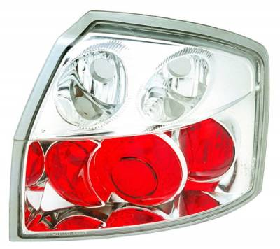 In Pro Carwear - Audi A4 IPCW Taillights - Crystal Eyes - Crystal Clear - 1 Pair - CWT-8303C2