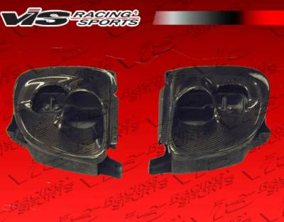 VIS Racing - Mazda RX-7 VIS Racing Carbon Fiber Tracer Headlight Conversion Set - 93MZRX72DTRA-018C