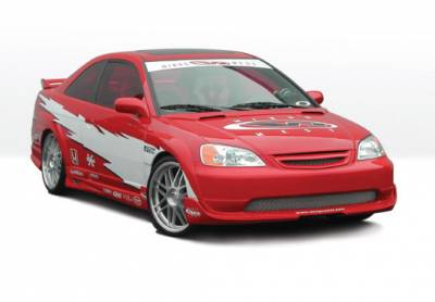 VIS Racing - Honda Civic 2DR VIS Racing G5 Series Body Kit - 4PC - With Extreme 7PC Fender Flares - 890554
