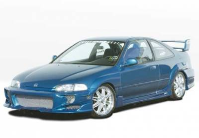 VIS Racing - Honda Civic 2DR VIS Racing Revolver Body Kit - 4PC - With 7PC Extreme Fender Flares - 890695