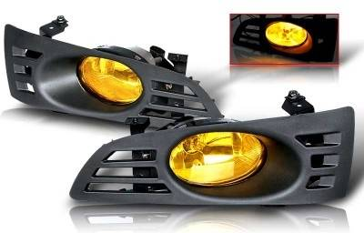 WinJet - Honda Accord 2DR WinJet OEM Fog Light - Yellow - Wiring Kit Included - WJ30-0037-12