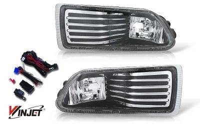 WinJet - Scion tC WinJet OEM Fog Light - Clear - Wiring Kit Included - WJ30-0070-09