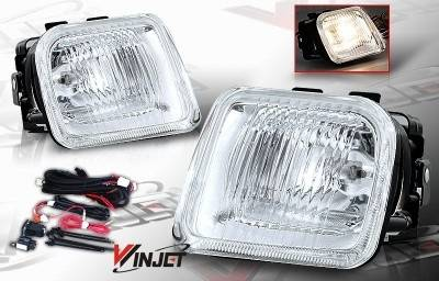 WinJet - Honda Civic WinJet OEM Fog Light - Clear - Wiring Kit Included - WJ30-0083-09
