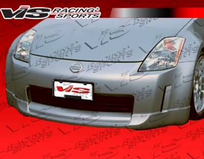 VIS Racing - Nissan 350Z VIS Racing Wings Front Lip - Polyurethane - 03NS3502DWIN-011P