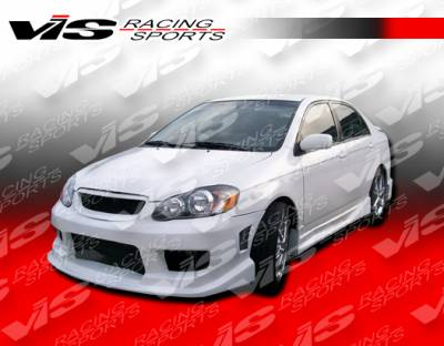 VIS Racing - Toyota Corolla VIS Racing Striker Front Bumper - 03TYCOR4DSTR-001