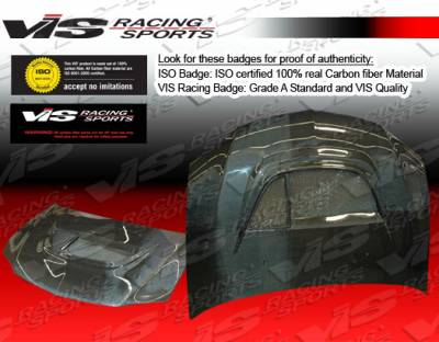VIS Racing - Mitsubishi Evolution 8 VIS Racing GT Black Carbon Fiber Hood - 03MTEV84DGT-010C