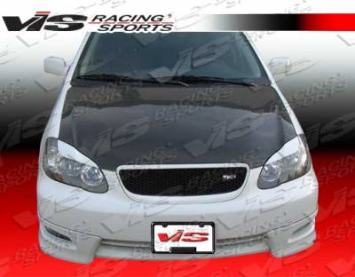 VIS Racing - Toyota Corolla VIS Racing OEM Black Carbon Fiber Hood - 03TYCOR4DOE-010C