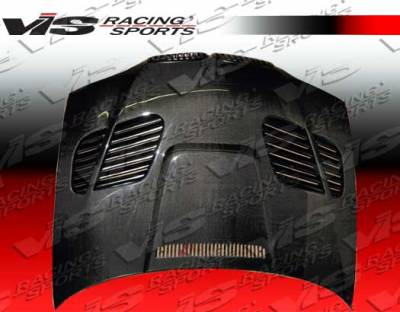 VIS Racing - BMW 3 Series 2DR VIS Racing GTR Black Carbon Fiber Hood - 04BME462DGTR-010C