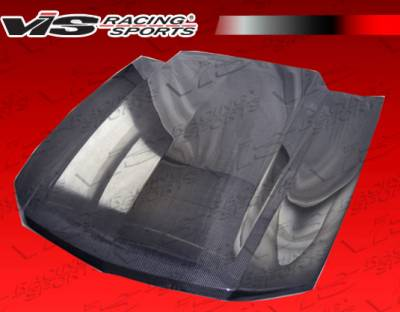 VIS Racing - Ford Mustang VIS Racing Cowl Induction Black Carbon Fiber Hood - 10FDMUS2DCI-010C