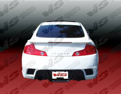 VIS Racing - Infiniti G35 2DR VIS Racing K Speed Rear Bumper - 03ING352DKSP-002