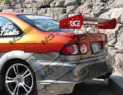 VIS Racing - Honda Civic 2DR & 4DR VIS Racing Battle Z Rear Bumper - 96HDCVC2DBZ-002