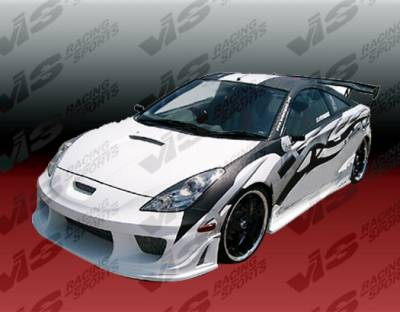 VIS Racing - Toyota Celica VIS Racing Wave Side Skirts - 00TYCEL2DWAV-004