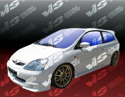 VIS Racing. - Honda Civic HB VIS Racing Techno R Side Skirts - 02HDCVCHBTNR-004