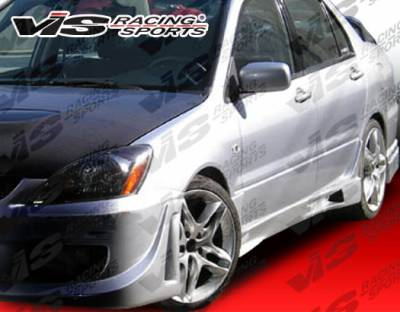 VIS Racing - Mitsubishi Lancer VIS Racing Rally Side Skirts - 02MTLAN4DRAL-004