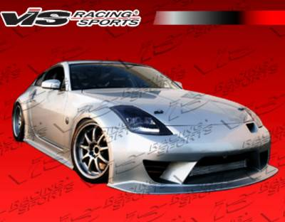 VIS Racing - Nissan 350Z VIS Racing JPC Type N Side Skirts - 03NS3502DJPCN-004
