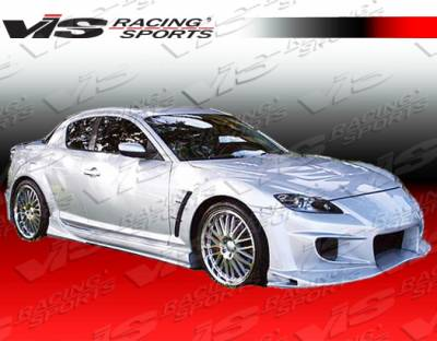 VIS Racing - Mazda RX-8 VIS Racing Invader Side Skirts - 04MZRX82DINV-004
