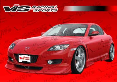 VIS Racing - Mazda RX-8 VIS Racing Invader-2 Side Skirts - 04MZRX82DINV2-004P