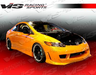 VIS Racing. - Honda Civic 2DR VIS Racing Techno R-1 Side Skirts - 06HDCVC2DTNR1-004