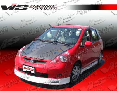 VIS Racing - Honda Fit VIS Racing Techno R-3 Side Skirts - 07HDFIT4DTNR3-004