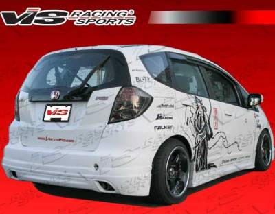 VIS Racing - Honda Fit VIS Racing Techno R Side Skirts - 09HDFIT4DTNR-004