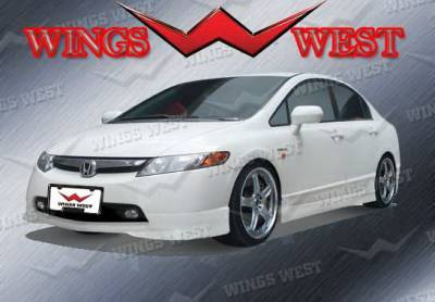 Wings West - Honda Civic Wings West VIP Side Skirts - Left & Right - 890912L&R