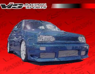 VIS Racing - Volkswagen Golf VIS Racing Kombat Side Skirts - 93VWGOF2DKOM-004