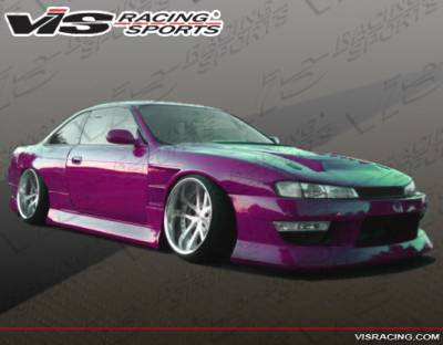 VIS Racing. - Nissan 240SX VIS Racing B Speed Widebody Side Skirts - 95NS2402DBSPWB-004