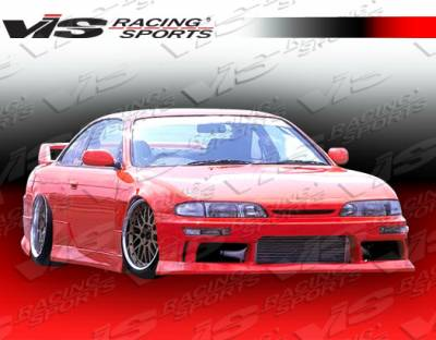 VIS Racing - Nissan 240SX VIS Racing M-Speed Side Skirts - 95NS2402DMSP-004