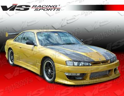 VIS Racing - Nissan 240SX VIS Racing V Speed Side Skirts - 95NS2402DVSP-004