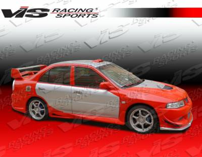 VIS Racing - Mitsubishi Mirage 4DR VIS Racing EVO 8 Side Skirts - 97MTMIR4DEVO8-004