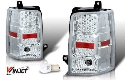 WinJet - Jeep Grand Cherokee WinJet LED Taillight - Chrome & Clear - WJ20-0147-01