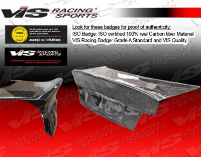 VIS Racing. - BMW 3 Series 4DR VIS Racing CSL Euro Fiberglass Trunk - 92BME364DCSL-020