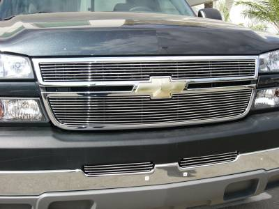 T-Rex - Chevrolet Silverado T-Rex Billet Grille Overlay - Bolt On & Insert - 2PC - 21106