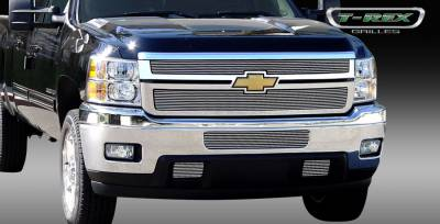 T-Rex - Chevrolet Silverado T-Rex Billet Grille Overlay - Bolt or Insert On - 2PC - 21114