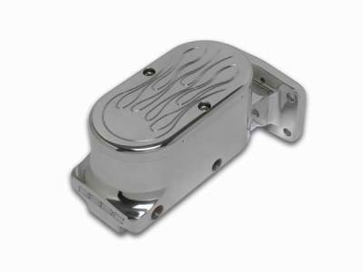 SSBC - SSBC Billet Aluminum Dual Bowl Master Cylinder - Mopar Mount and Flamed Cap - A0471-3
