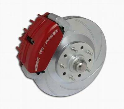 SSBC - SSBC Power Drum to Disc Brake Conversion Kit with 2 Inch Drop Spindles & 2 Piston Aluminum Calipers - Front - A153-5